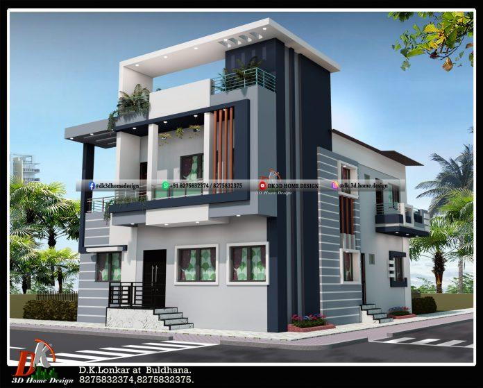 30 by 40 house double floor house design
