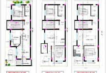 1000 square feet 3 floor house plan