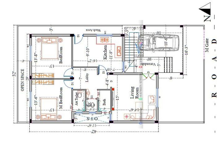 30*40 2bhk house plan