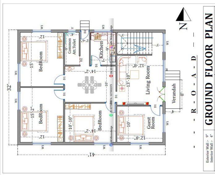 30x40 g+1 house plan