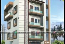 g+3 building elevation design