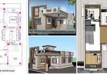 1050 2bhk single floor house design