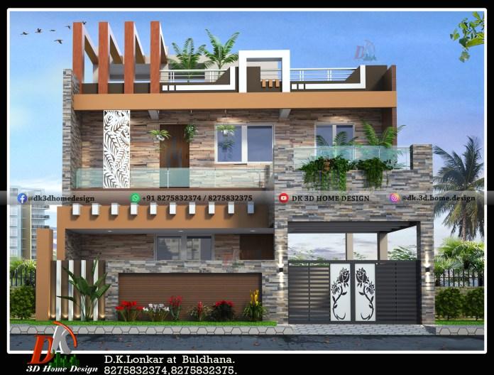 exterior house colour combination for 2 floor house
