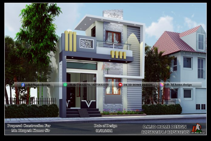 800 sq ft house design for middle class