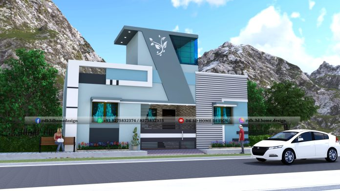 40x30 house design in 1200 square feet 3bhk