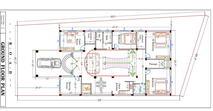 2400 square feet house design