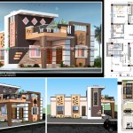 30x50 house front elevation design with plan