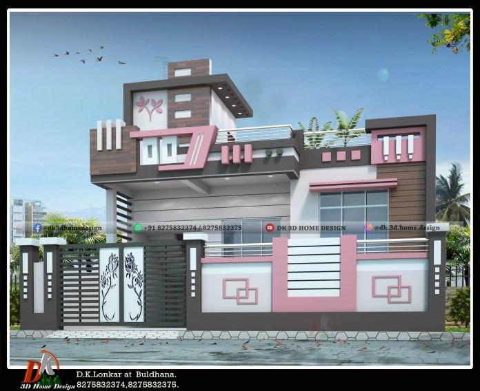 modern 1800 sq ft house front elevation designs
