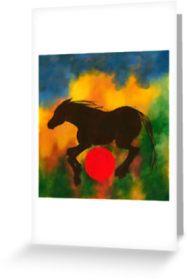 HORSE W RED BALL papergc,441x415,w,ffffff.2u4