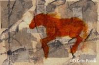 W CHINESE RUST HORSE RUNNING DKP