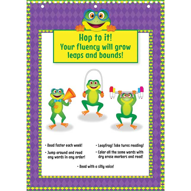 Fluency Fitness Flip Chart Weekly Sight Word Phrases And Sentences 1 Flip Chart