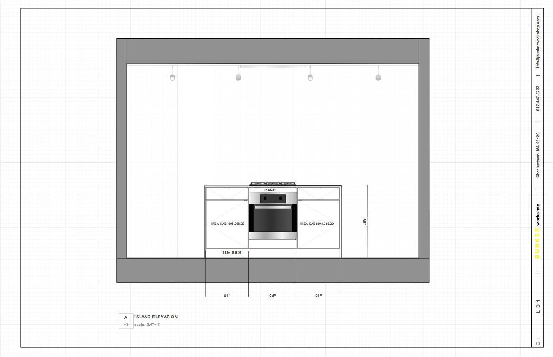 hight resolution of kick wall island diagram