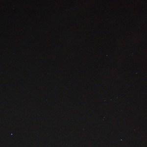 オリオン座と冬の大三角形。