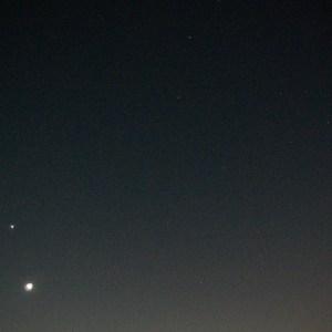金星、月、スピカ、土星