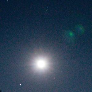 月と木星とアルデバランとプレアデス