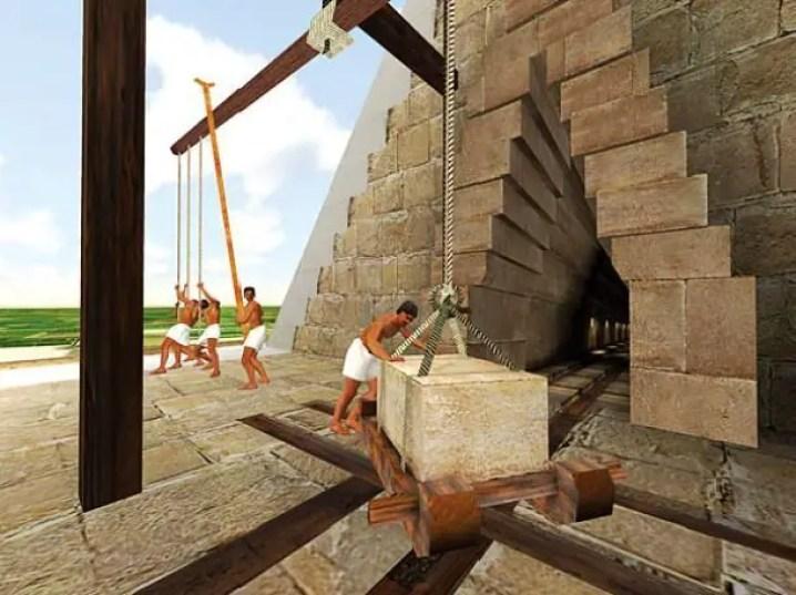 بناء الأهرامات