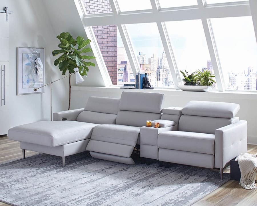 beryl 4 piece power motion reclining sectional sofa