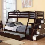 Jason Twin Over Full Bunk Bed With Storage Ladder And Trundle