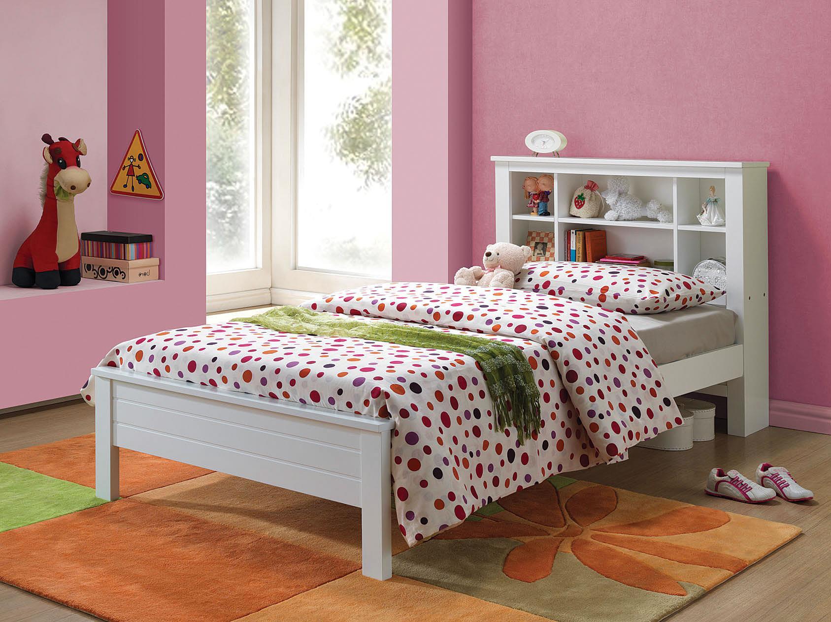 yara youth storage twin bed with bookcase headboard