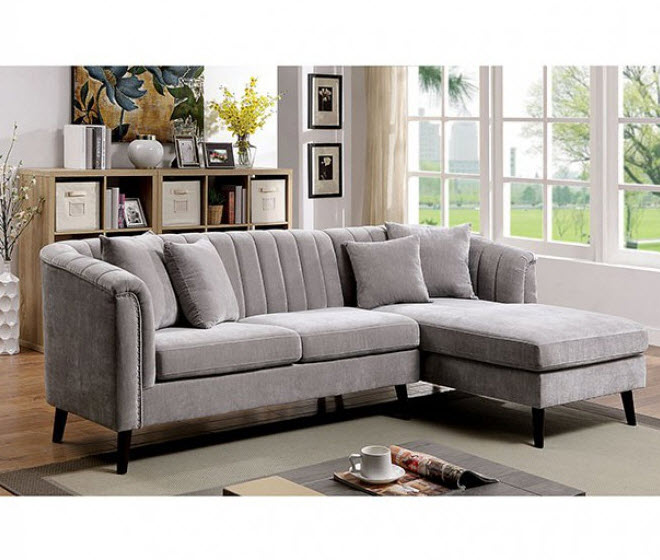 goodwick channel tufted sectional sofa