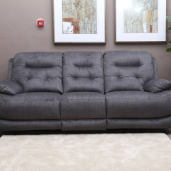 High Quality Sofa Sets Red Leather Reclining Set Louis  Wrapped In Grey Linen