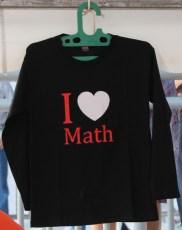 01 Kaos I LOVE MATH juga tersedia
