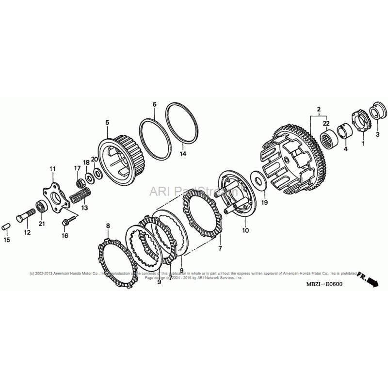 Łożysko igiełkowe kosza sprzęgła Honda CB 600 F Hornet 04