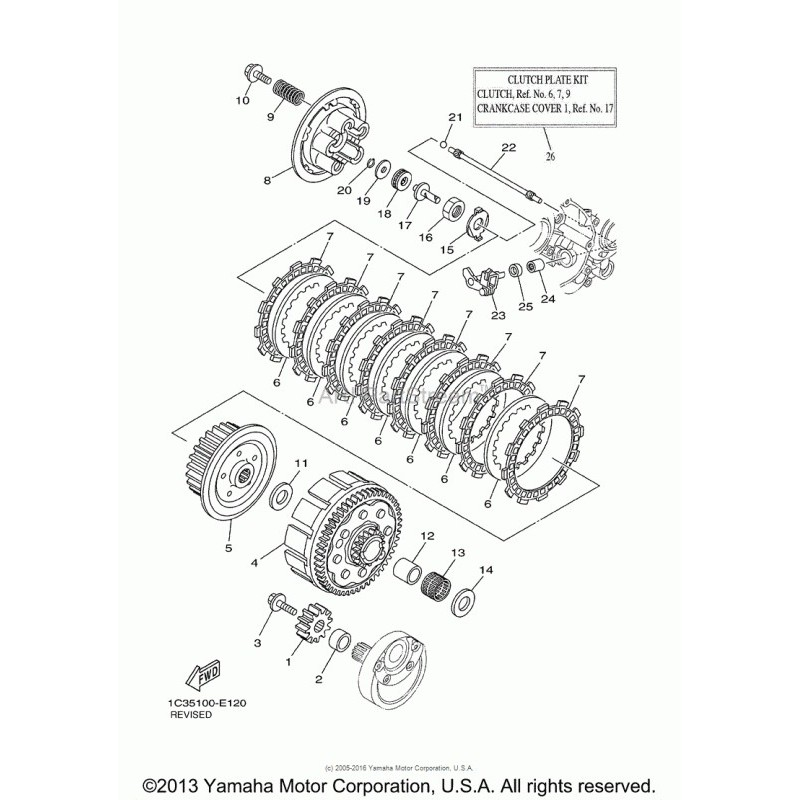 Łożysko igiełkowe dwurzędowe kosza sprzęgła Yamaha YZ 125