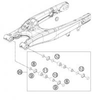 Zestaw naprawczy wahacza All Balls Honda CR 250 92-01r