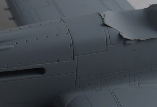 Closeup of primed surface