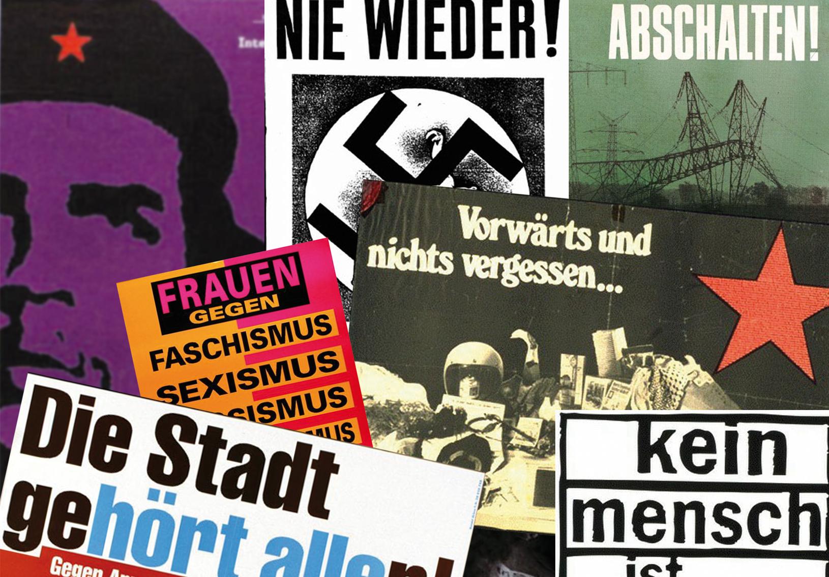 Linke Plakatsammlung