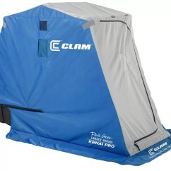 Ice Fishing Chair Shelter Lycra Covers For Sale Clam Outdoors Gear Best Price Guarantee At Dick S Product Image Kenai Pro 1 Person