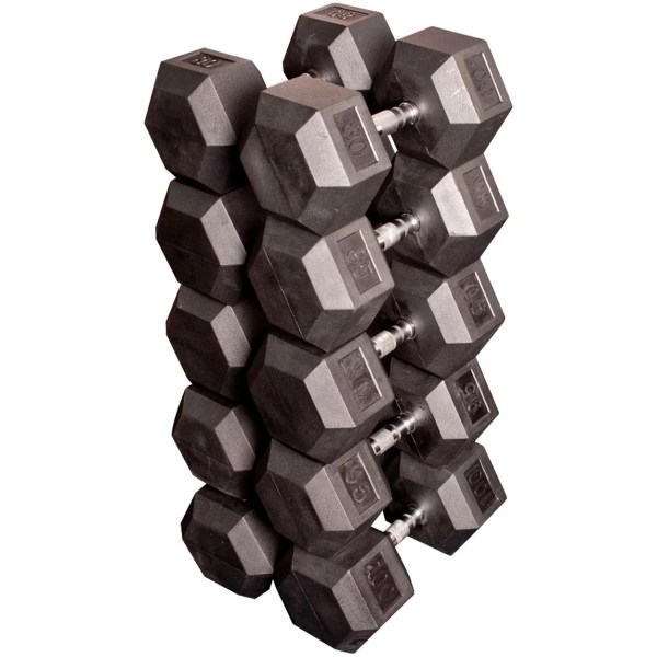 Body Solid Rubber Hex 80-100 Lb Dumbbell Set Dick' Sporting Goods