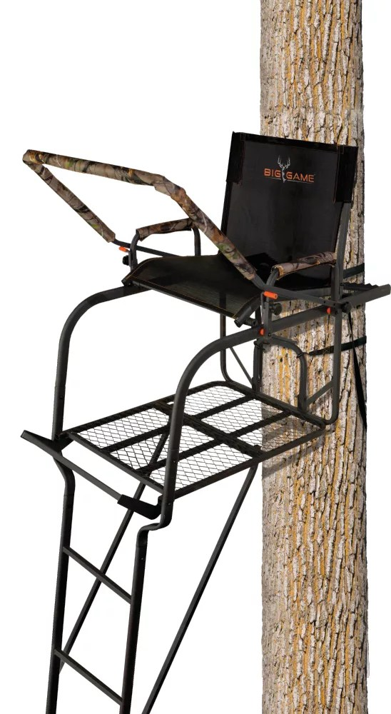 swivel chair tree stand adirondack cushion stands for sale best price guarantee at dick s product image big game treestands hunter hd 1 5 ladder