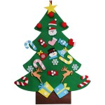 Diy Felt Christmas Tree Ornaments Wall Hanging Xmas Gifts Decorations For Kids Ebay