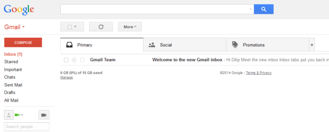 getting past gmail tabs