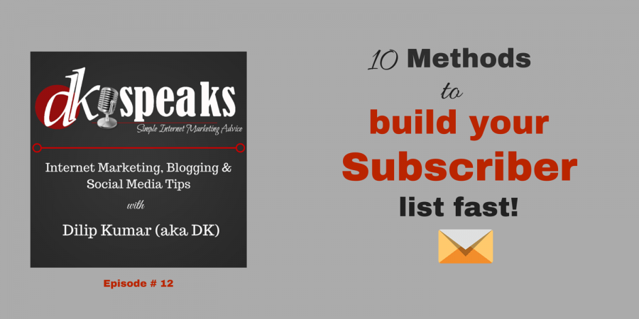 build your email list fast