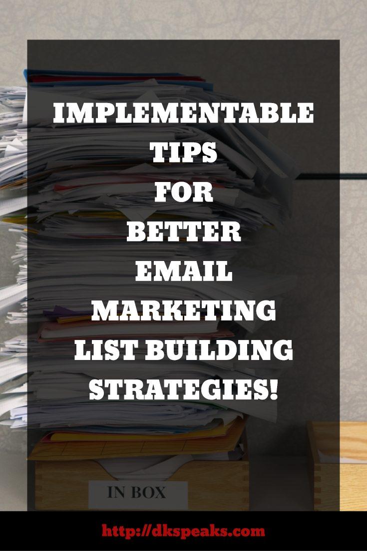 email marketing list building strategies