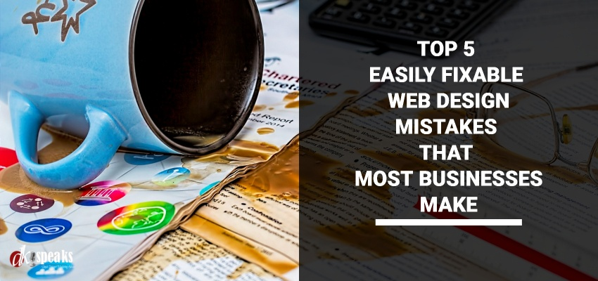 top web design mistakes