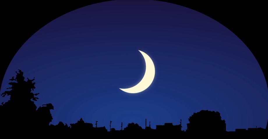 暗闇の中浮かぶ月