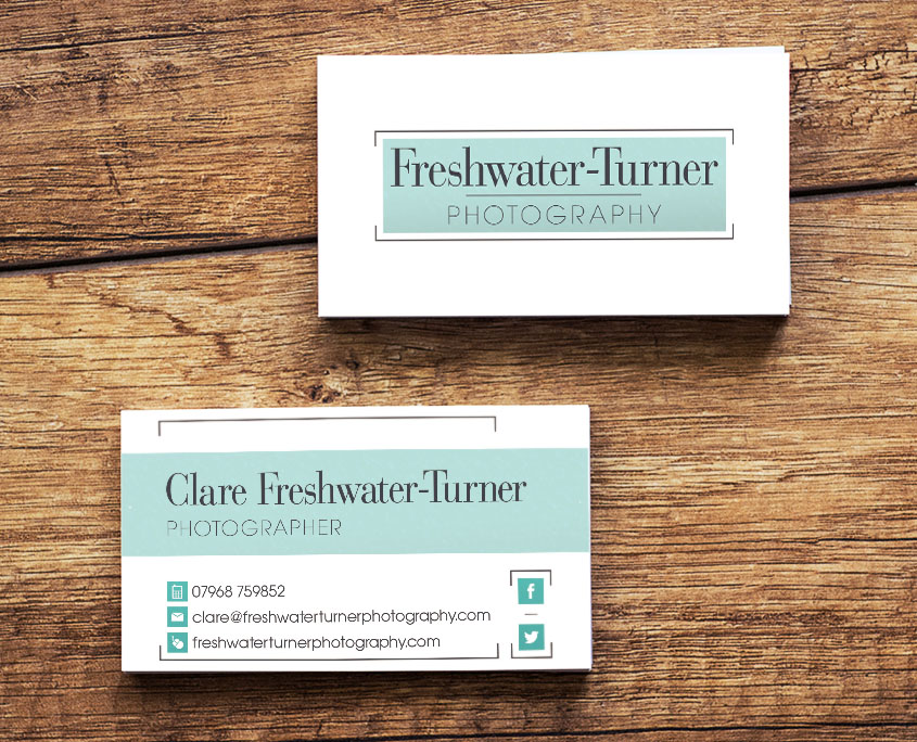 Freshwater turner photography logo development business card dl freshwater turner photography graphic design artwork print pdf business card reheart Image collections