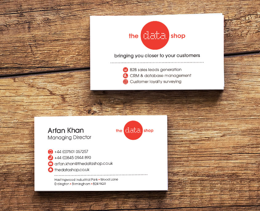 The Data Shop Graphic Design Artwork Print PDF Business Card