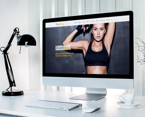 Dream Bodies Graphic Design Website