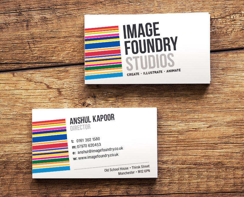 Image Foundry Studios Business Cards: - DL Graphics Ltd