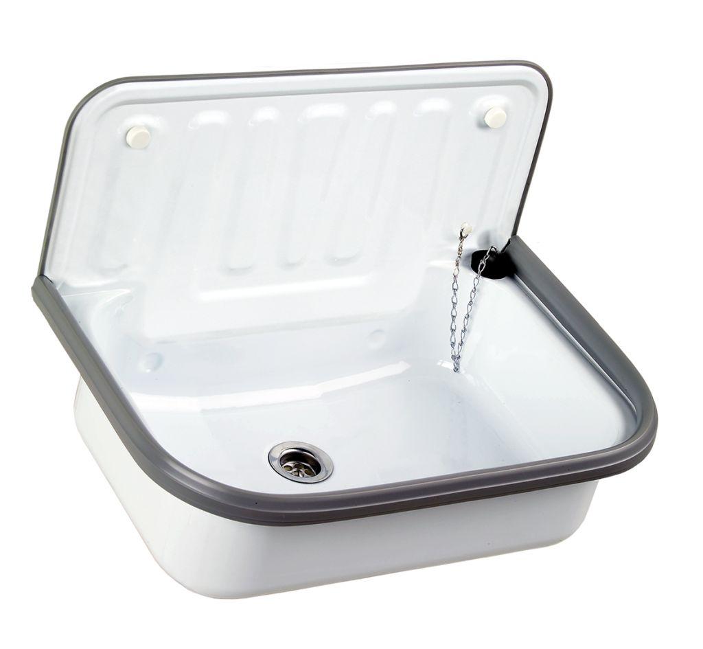 Emaille Spulbecken Kuche Waschbecken Werkstatt Mobel Design Idee
