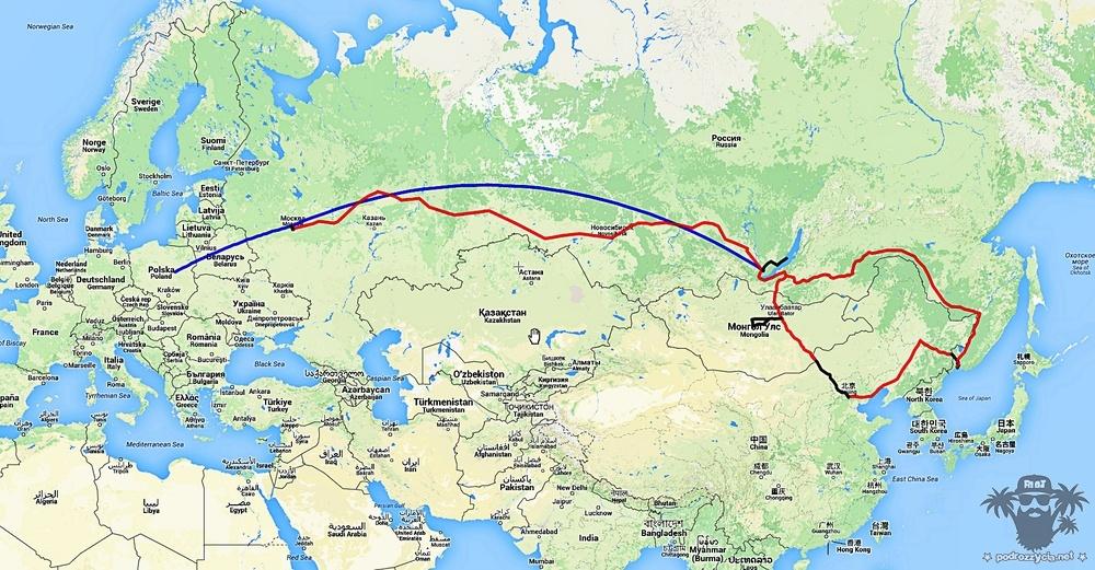 Transsib, mapa finalna