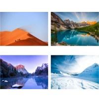 Landscape Grand Canyon Mountain Lakeside Scenery Wall ...