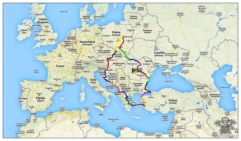 PODRÓŻ ŻYCIA Operacja Kebab. Mapa