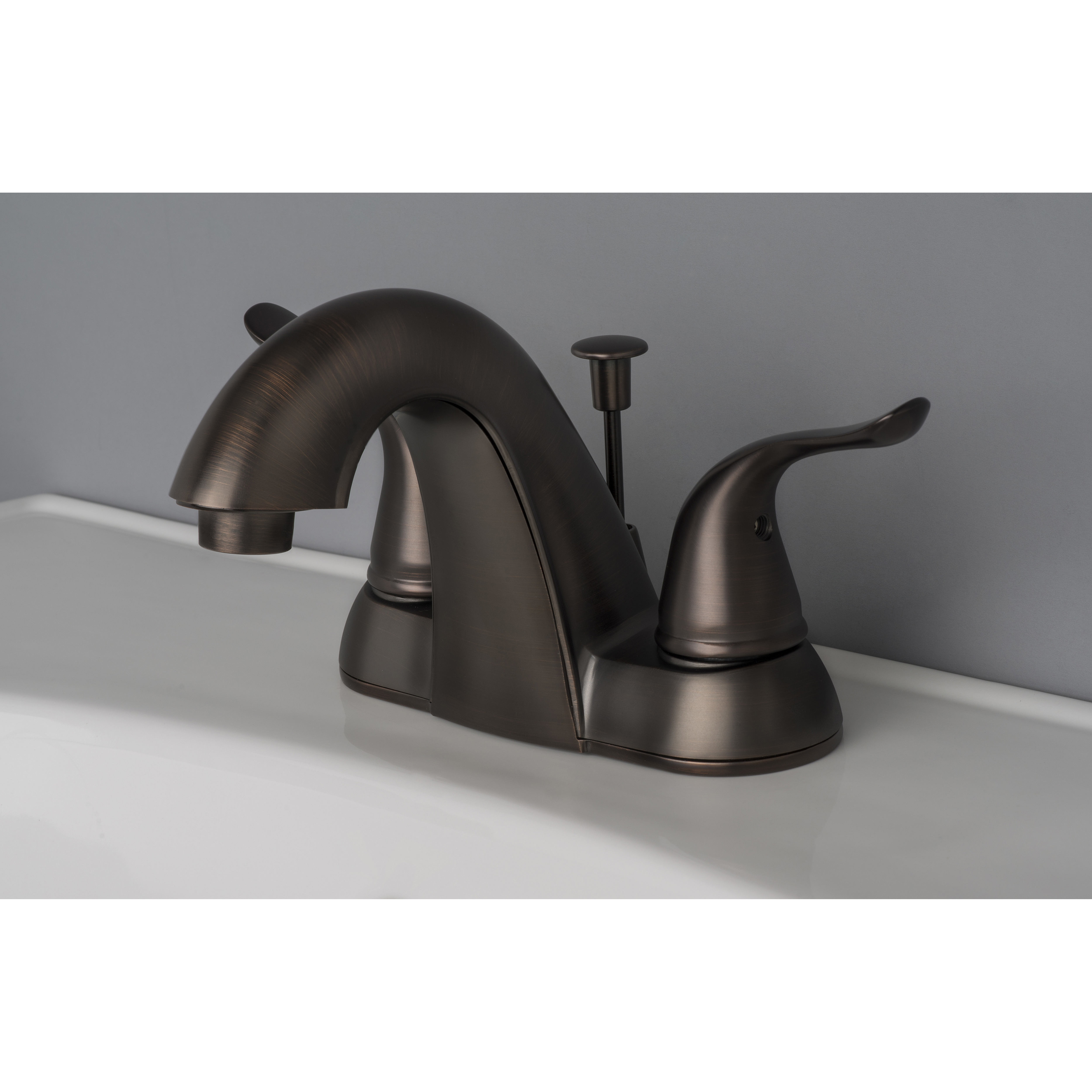 brushed bronze kitchen faucet teal rugs contemporary bathroom vanity sink 4 quot centerset lavatory