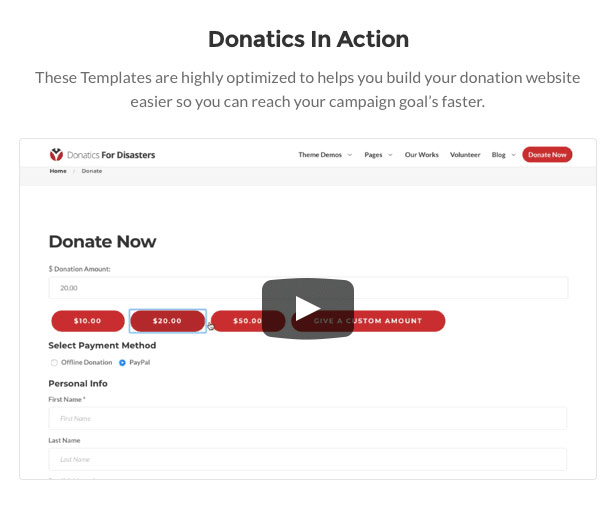 Donatics - Charity & Fundraising WordPress Theme - 4